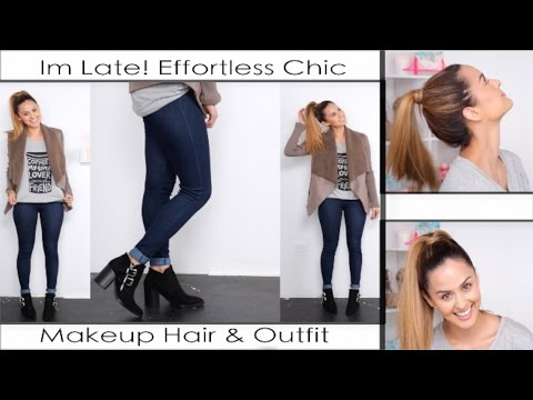 Im late! Quick Effortless Makeup Hair  & Outfit l Christen Dominique thumbnail