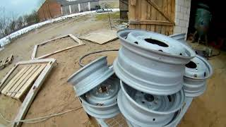 Renowacja felg stalowych 22.5 cala oraz malowanie proszkowe (bonus felgi 126p )
