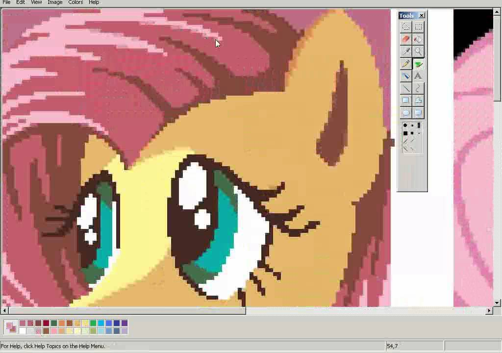 Drawing Fluttershy On MS Paint