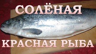 Как засолить красную рыбу . Очень простой и вкусный рецепт.