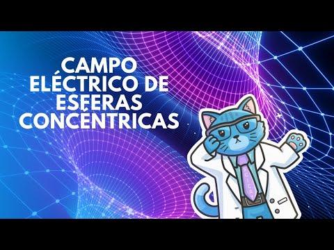 Electromagnetismo: Campo eléctrico y densidad de carga de esferas concéntricas.