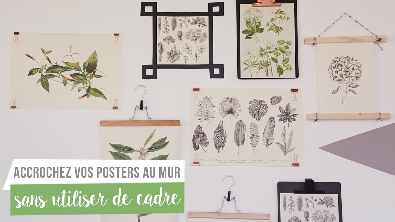 5 astuces pour accrocher vos posters sans utiliser de cadre how to westwing france youtube. Black Bedroom Furniture Sets. Home Design Ideas