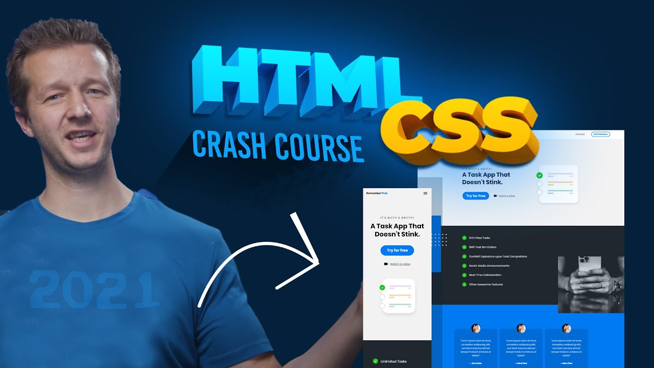 HTML and CSS Tutorial for 2021 - COMPLETE Crash Course!