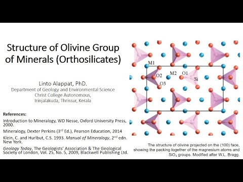 Structure of Olivine Group of Minerals