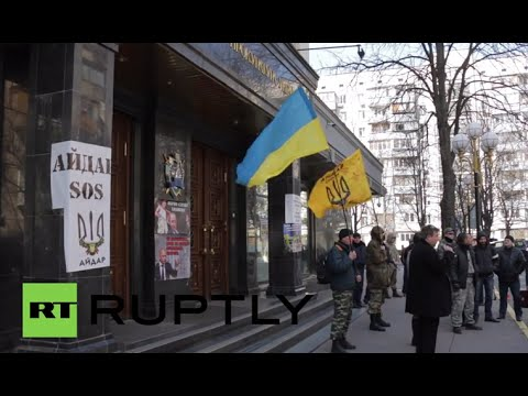 Ukraine: Protesters rally for prosecutor general and Prime Minister Yatsenyuk to be fired