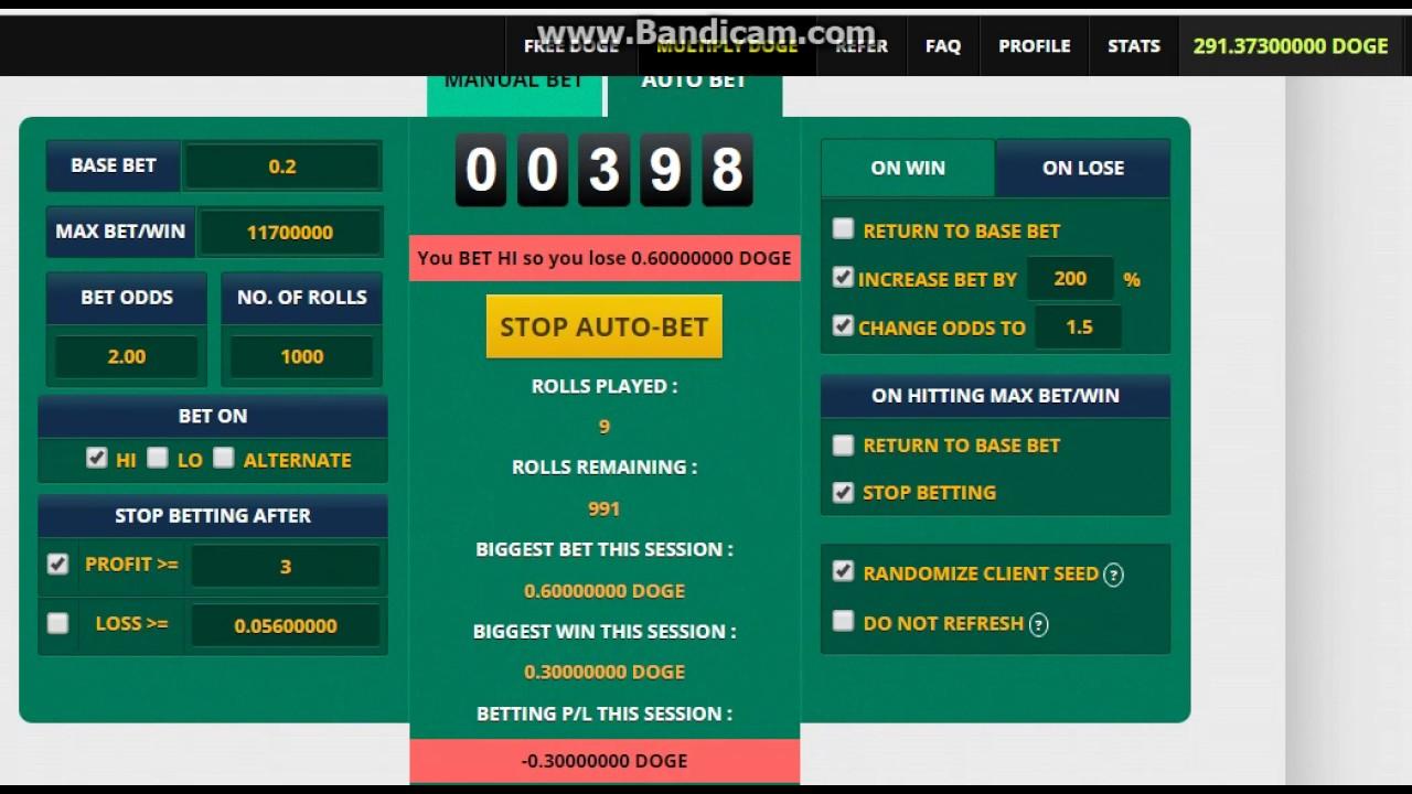 Freebitcoin auto bet settings
