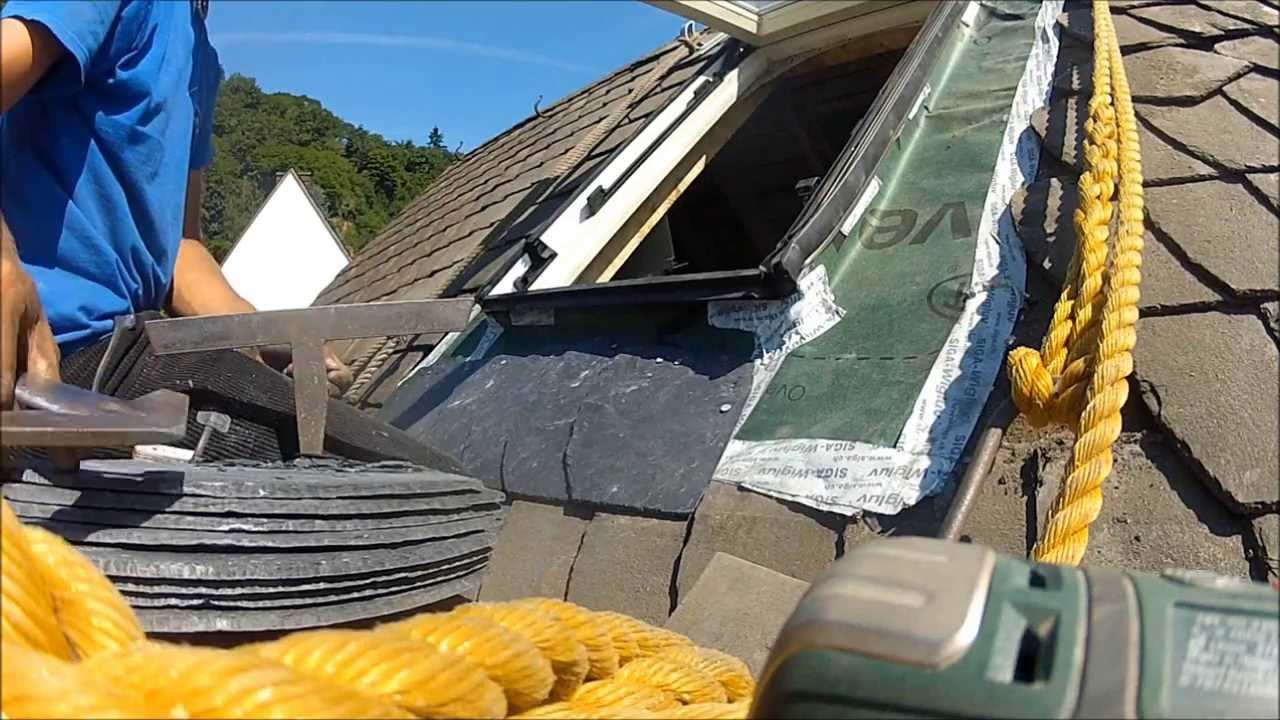 2013 08 05 dachfenster einbau front youtube. Black Bedroom Furniture Sets. Home Design Ideas