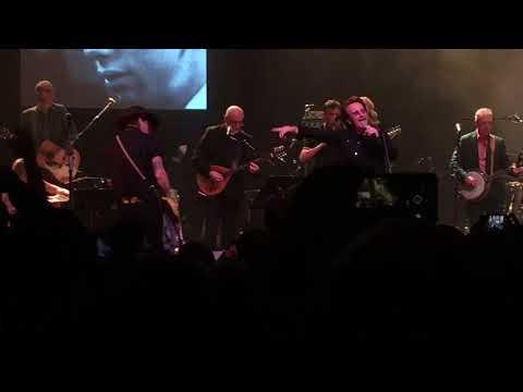 Bono and Johnny Depp perform