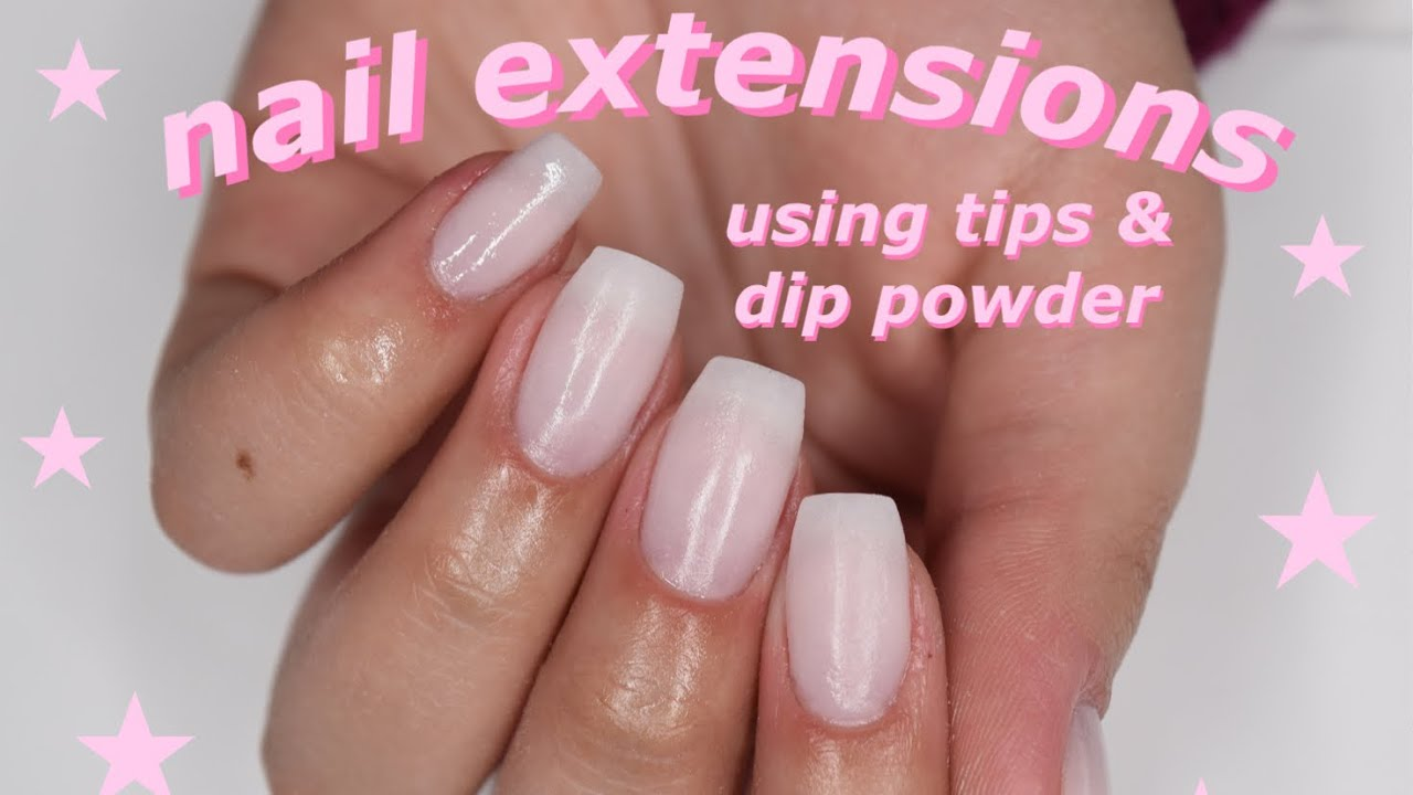 how i do my nail extensions! (tips & dip powder) #1