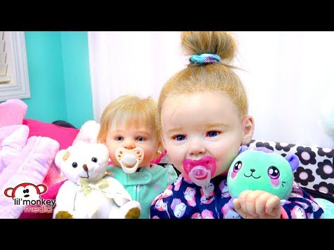 My Reborns! Night Routine with Julie and Adeline! Mp3