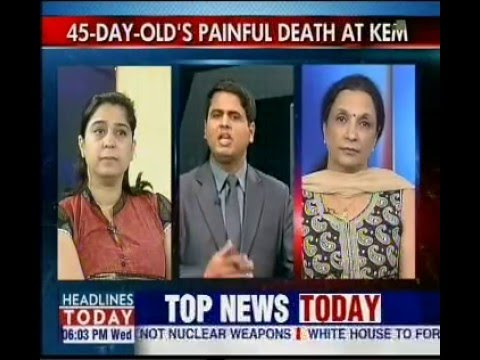 Live Telecast  Dr. Abha Majumdar on HEADLINES TODAY (In vitro fertilization)