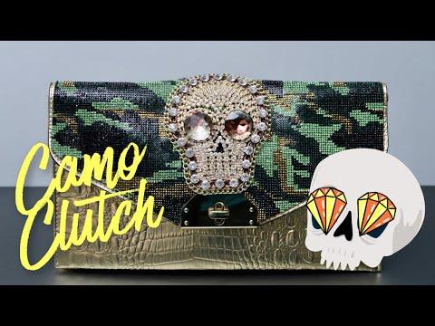 DIY | Rhinestone Camo Clutch | BellaGemaNails