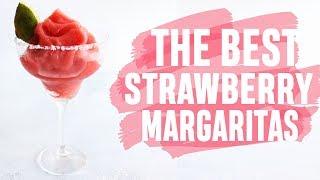 THE BEST EVER FROZEN SLUSHY STRAWBERRY MARGARITAS