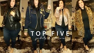 TOP FIVE Plus Size Jackets & Coats | sometimes glam