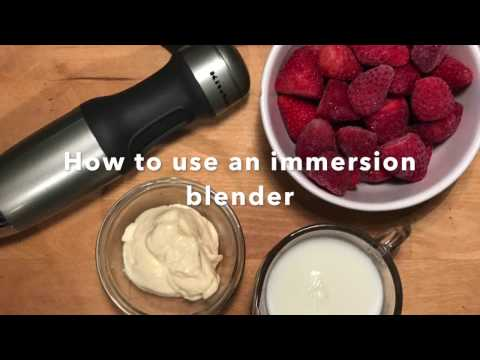 Why You Want An Immersion Blender