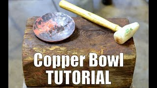 How to Forge Copper Bowls on a Dishing Stump // Forming Copper for Blacksmiths