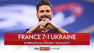Giroud helps France annihilate Ukraine | France 7-1 Ukraine | International Friendly Highlights