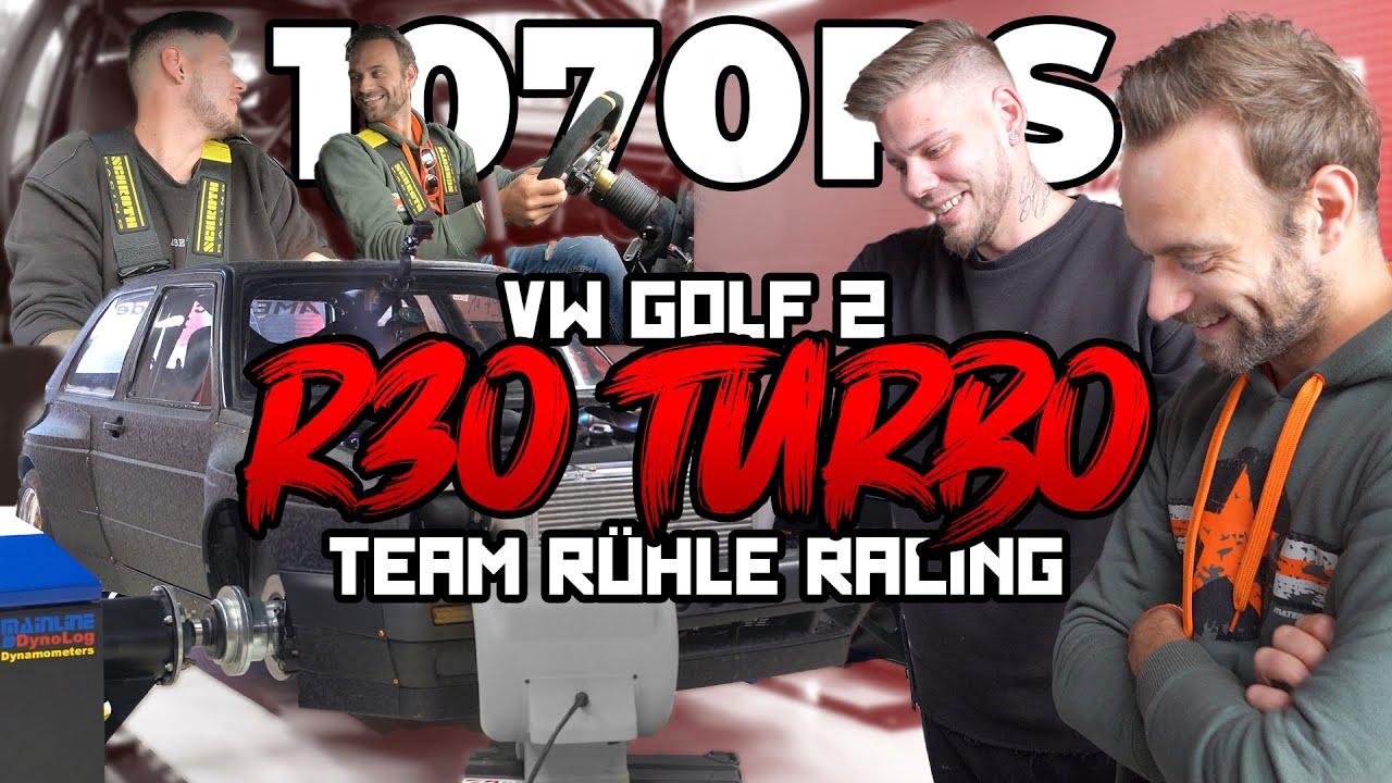 VW Golf 2 R30 Turbo mit 1070 PS - Probefahrt und Prüfstand - Team Rühle Racing | Philipp Kaess |
