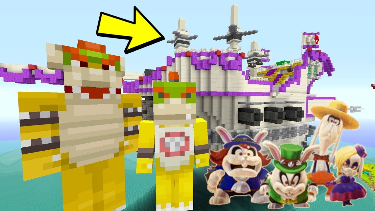 Minecraft Switch Super Mario Series Bowser S Wedding Ship