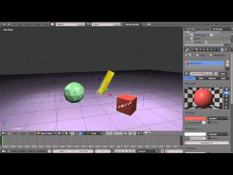 Blender 2.6 Tutorial - Grouping Objects and the Local Axis