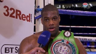 ENGLISH CHAMPION: Daniel Dubois and Frank Warren reflect on win over Tom Little