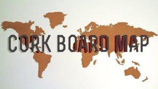 Diy Corkboard World Map