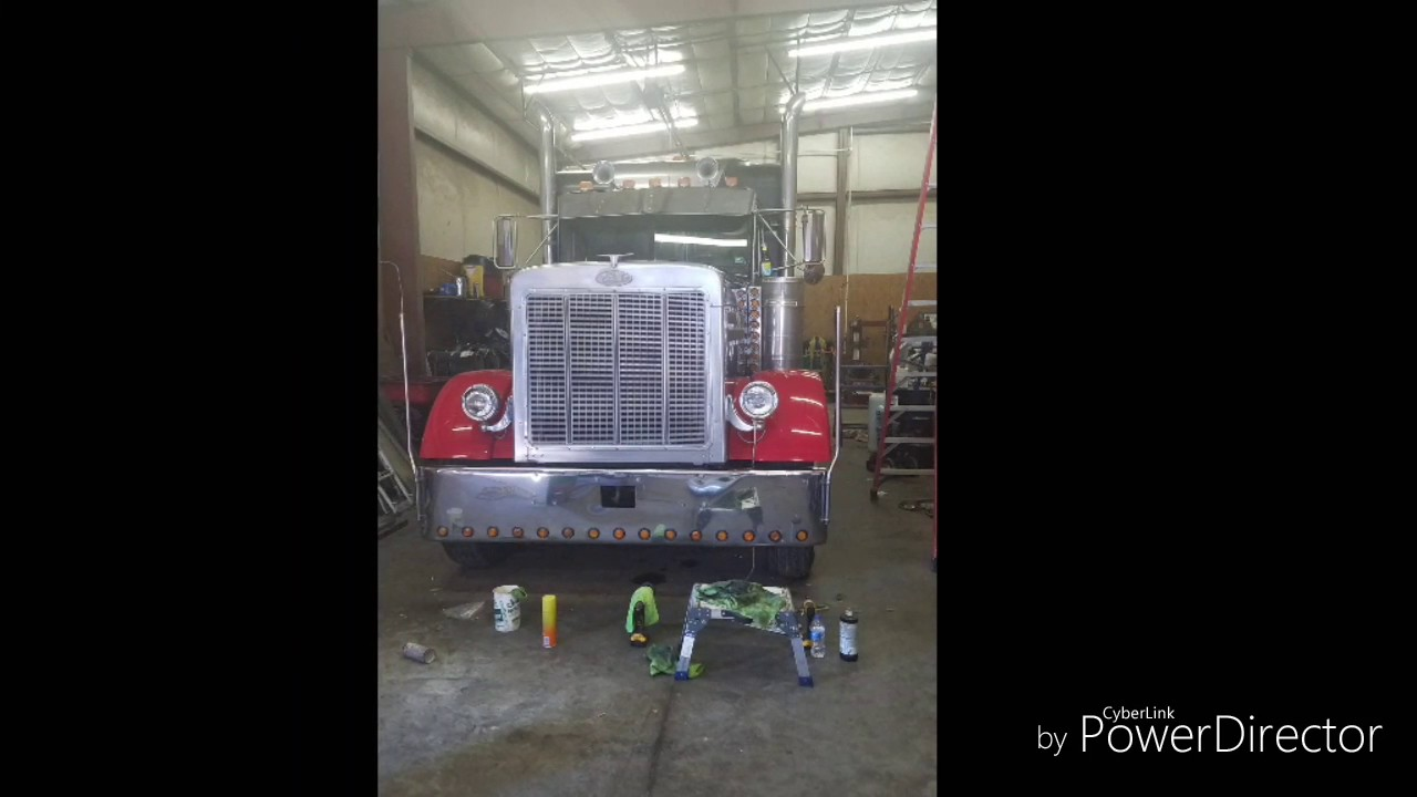 How to do a partial paint and install new fenders on a Peterbilt