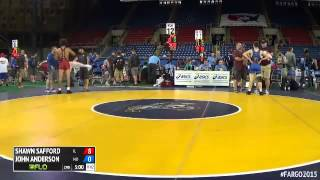 160 Champ. Round 3 - John Anderson (Missouri) vs. Shawn Safford (Illinois)