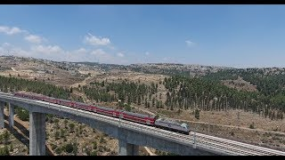 A few days later: a full train on the bridge
