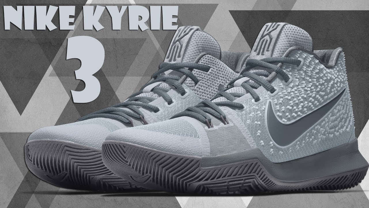 01880a29e8ba GRAYSCALE COLORWAYS NIKE KYRIE 3 CUSTOM NIKE ID - YouTube
