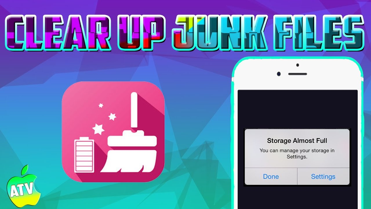 HOW TO CLEAN UP STORAGE/JUNK ON YOUR IOS 12 DEVICE/ GET MORE STORAGE FOR  YOUR 16 GB IPHONE OR IPAD