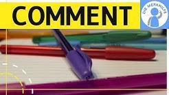 How to write a comment - Kommentar in Englisch schreiben - Aufbau, Inhalt, Struktur einfach erklärt