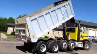 2000 Peterbilt 378 quad axle dump Demo