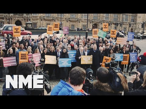 Agent Of Change - Music legends protest at Westminster to save small UK live music venues