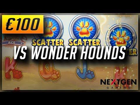 Online Casino Slots: €100x2? VS WONDER HOUNDS SLOT (2018)