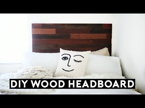 DIY Wood Headboard Tumblr Inspired! (Under $50) Affordable Room Decor for 2017