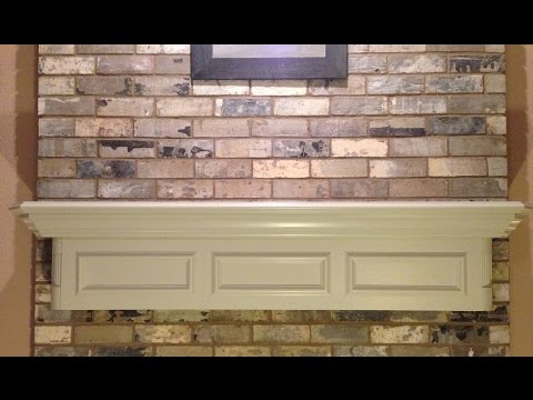 Painting My Fireplace Mantel - Easy DIY