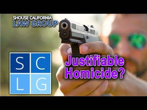 Justifiable homicide - 3 times deadly force is legal in California