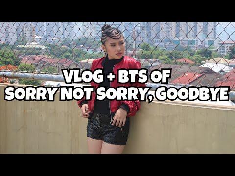 Vlog + BTS of Sorry Not Sorry, Goodbye MV shoot!