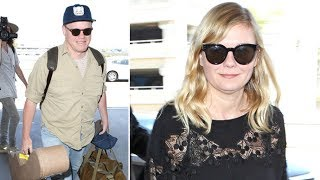 Kirsten Dunst Asked About 'Making Babies' While Leaving L.A. With Fiance Jesse Plemons