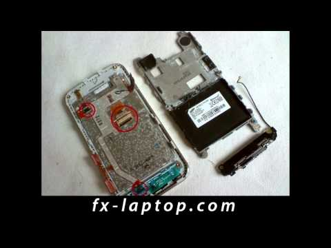 Disassembly Samsung Tocco Lite S5230 - Battery Glass Screen Replacement