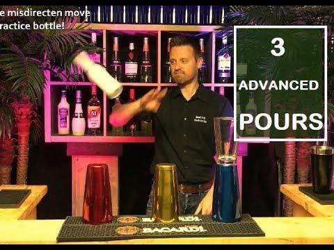 3 Exhibition Flairbartending Pours (advanced level)