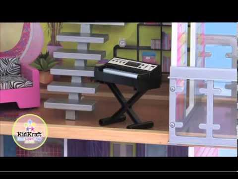 Maison de poup es moderne jouet en bois kidkraft sur for Maison moderne kidkraft