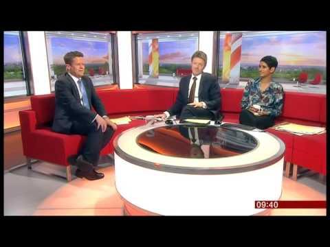 YBall on the BBC breakfast show
