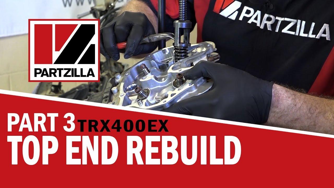 400ex top end rebuild part 3 rebuild installation partzilla com [ 1280 x 720 Pixel ]