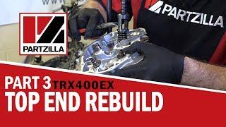 400ex top end rebuild part 3 rebuild installation   partzilla com
