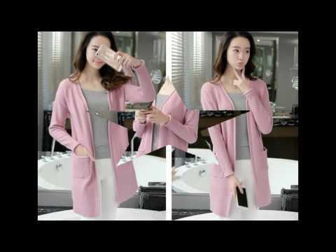 4T - Áo khoác len form dài màu hồng tím mã B2378