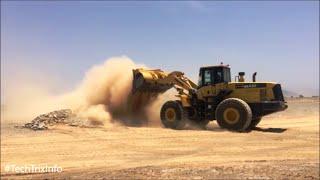 Front end loader middle east work site