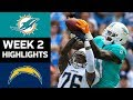 Dolphins vs. Chargers   NFL Week 2 Game Highlights