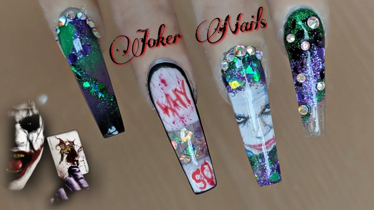 Joker Halloween Nails